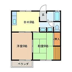 サニーピア[1階]の間取り