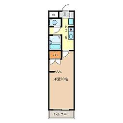 KURIMAマンション[512号室]の間取り
