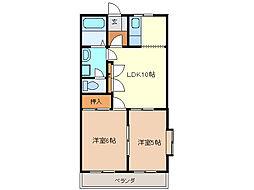 ブルーコーナー[2階]の間取り