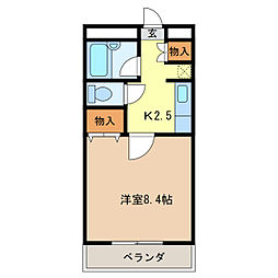 ユーハウス津[2階]の間取り