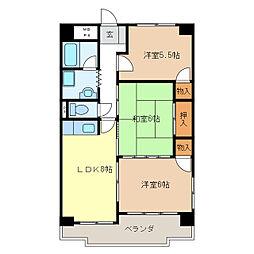 西丸之内パークマンション[2階]の間取り