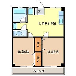 津IN COURT練木[4階]の間取り