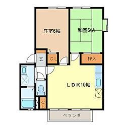 サンガーデンA・B棟[1階]の間取り