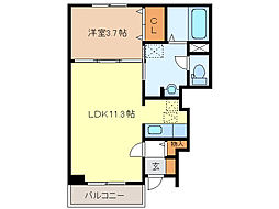 T・H NOVAII[1階]の間取り