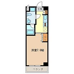 エイムオーエス島崎町マンション[101号室]の間取り