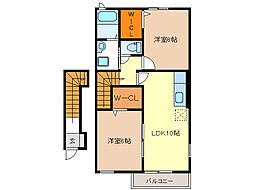 ポコ・ア・ポコ I・II[2階]の間取り
