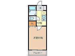 コーポサンライズ[1階]の間取り