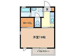 コート・カノン[2階]の間取り