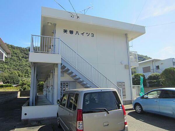 徳島県鳴門市鳴門町三ツ石字芙蓉山下の賃貸アパートの外観