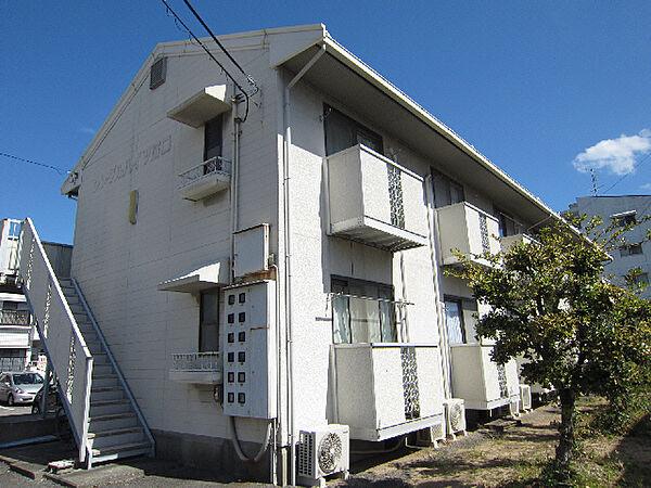 徳島県鳴門市撫養町小桑島字前浜の賃貸アパートの外観