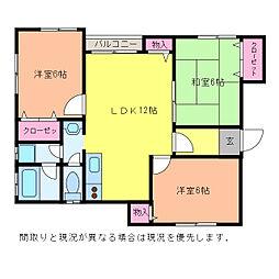 リバーサイドF&T A棟[1階]の間取り