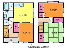 [一戸建] 新潟県新潟市西区小針3丁目 の賃貸【/】の間取り