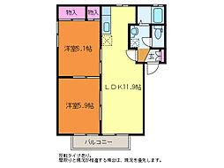 シャーメゾンヤマト[1階]の間取り