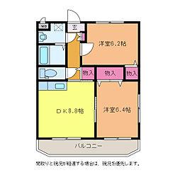 カルム・SAKAI[3階]の間取り