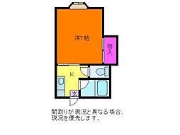 ハイツサンライト[2階]の間取り