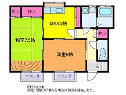 レジデンス・ナカジマ[B107号室]の間取り