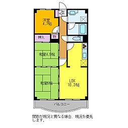 プレステージ青山(909)[909号室]の間取り