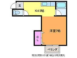 スマートネス小針台[2階]の間取り