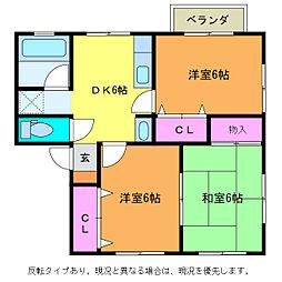 クレスト(3DK)[2階]の間取り