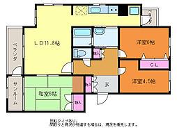 第3渡仙ビル[3階]の間取り
