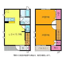 Cozy Kihara II[1階]の間取り