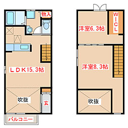 JR指宿枕崎線 枕崎駅 バス40分 麓下車下車 徒歩9分の賃貸アパート 1階2LDKの間取り