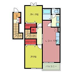 プリムローズY[2階]の間取り