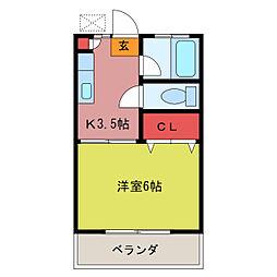 第2田辺コーポ[2階]の間取り