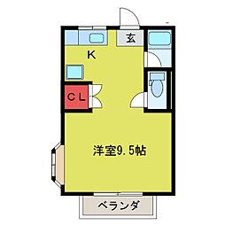 flap坂戸[2階]の間取り