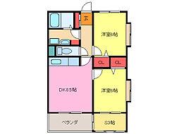 MKマンション[5階]の間取り