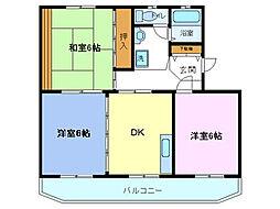 遠藤ハイツB[3-B号室]の間取り