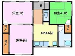 梅名荘[1階]の間取り