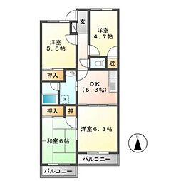 リヴァティーマンション[3階]の間取り