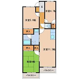 リヴァティーマンション[B305号室]の間取り
