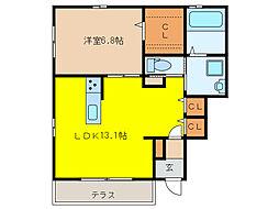 レガート新宿[101号室]の間取り