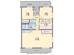 コルティーレ弐番館[4階]の間取り