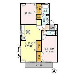 Twin HouseB[102号室]の間取り