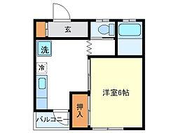 富士美アパート[2階]の間取り