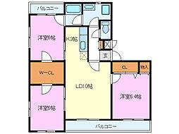 ビバ・ステート[2階]の間取り