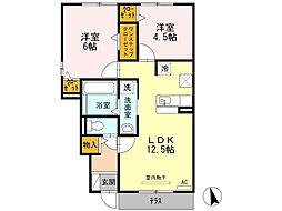 Notre MaisonI・II[1階]の間取り