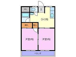 関ハイツ[2階]の間取り