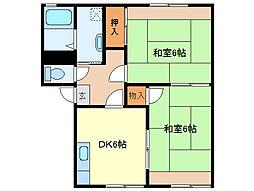 クレッセントヴィラA棟[1階]の間取り