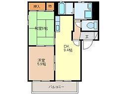 エスペランサA棟(ハイツ)[2階]の間取り