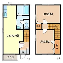 エルクレール[1階]の間取り