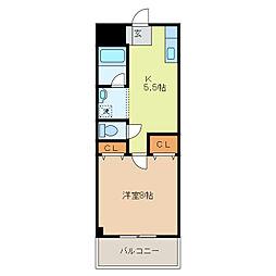 クレインヒルズマンション[105号室]の間取り