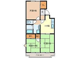 進峰マンションA棟[A303号室]の間取り