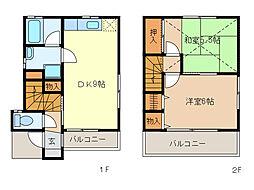 [テラスハウス] 栃木県足利市山下町 の賃貸【/】の間取り