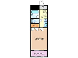 富澤第一ビル[203号室]の間取り