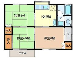 [一戸建] 栃木県足利市堀込町 の賃貸【/】の間取り
