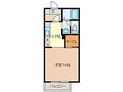 フレグランスII[1階]の間取り